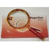 Лупа диаметр 90мм, c 5-кратным увеличением, в металлической оправе, с деревянной ручкой