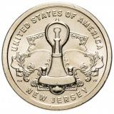 """США 1 доллар (dollar) 2019  """"Американские инновации - Лампа накаливания Эдисона (Нью Джерси)"""""""