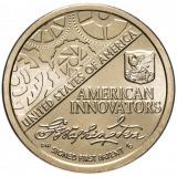 """США 1 доллар (dollar) 2018  """"Американские инновации - Первый патент"""""""