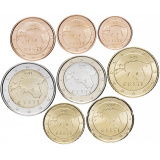 Эстония набор монет евро  (8 штук)