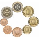 Мальта полный набор монет евро (8 штук)