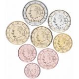 Бельгия набор монет евро  (8 штук)