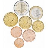 Нидерланды набор монет евро  (8 штук)
