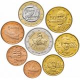 Греция годовой набор евро  (8 монет)
