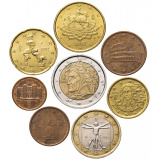 Италия годовой набор евро  (8 монет)