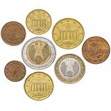 Германия набор монет евро  (8 штук)