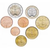 Словакия набор монет евро  (8 штук)