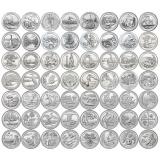 США набор 56 монет Национальные парки США