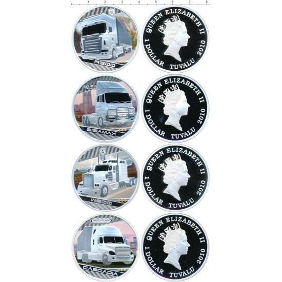 Тувалу 1 доллар набор 2010 «Короли дорог.Грузовики» из 4 монет - 1