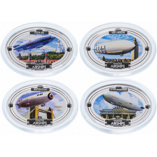 Набор монет Фиджи Знаменитые дирижабли Серебро 2009 Proof  - 1