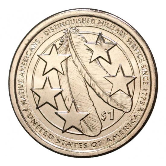 США 1 доллар, 2021 год. Коренные американцы - 1
