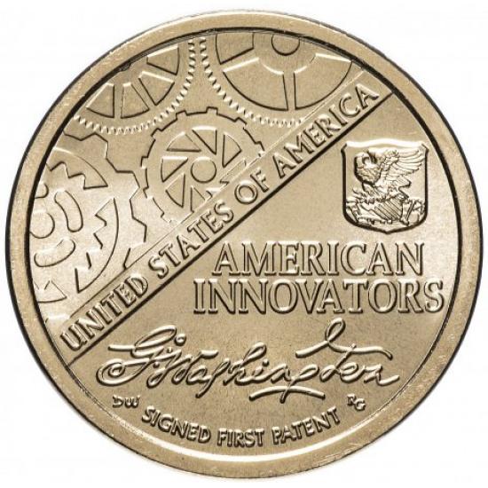 """США 1 доллар (dollar) 2018  """"Американские инновации - Первый патент"""" - 1"""