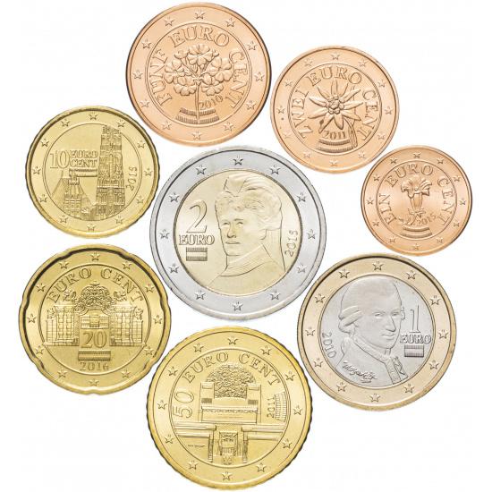 Австрия годовой набор евро  (8 монет) - 1