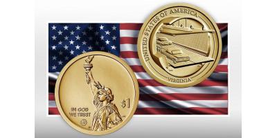 1 доллар «Американские инновации» - Вирджиния