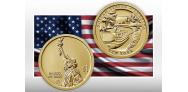 Монета 1 доллар - Нью-Йорк отдает дань уважения каналу Эри